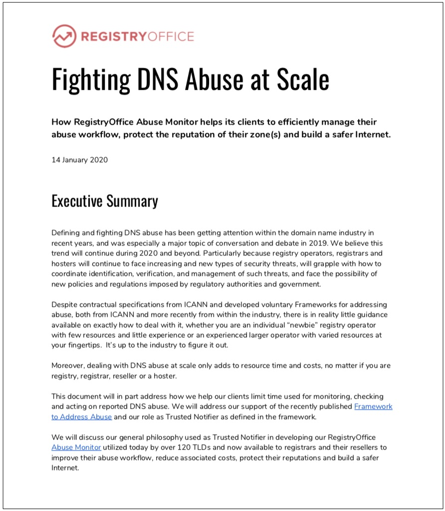 DOWNLOAD Fighting DNS Abuse at Scale